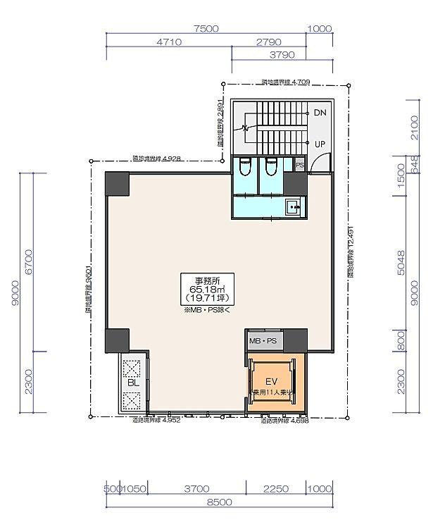 (仮称)神保町3丁目 計画 新築工事 8階の間取り画像