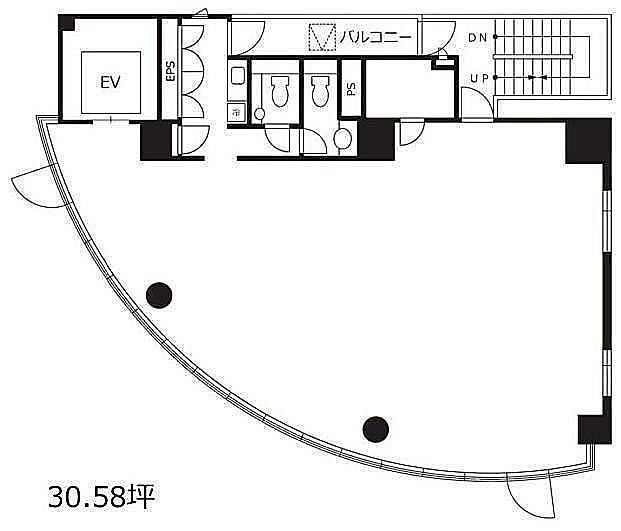 渋谷デュープレックスB's 9階の間取り画像