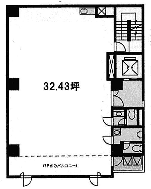 MAKIビル 6階の間取り画像