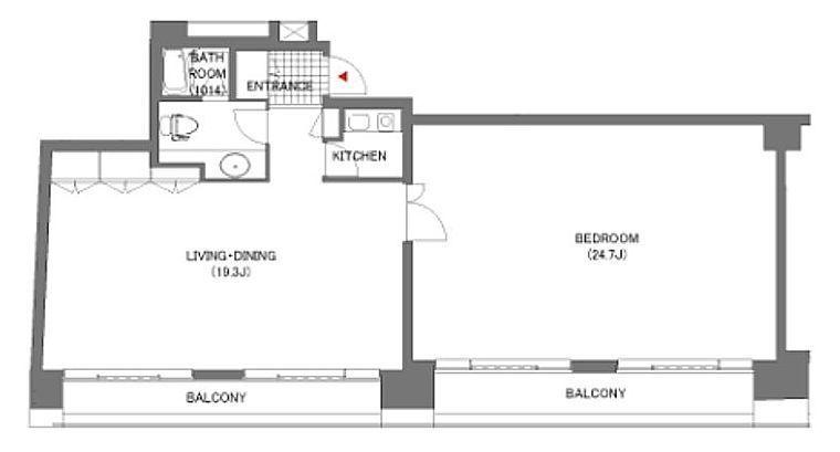 六本木イグノポール 7階702(SOHO)の間取り画像