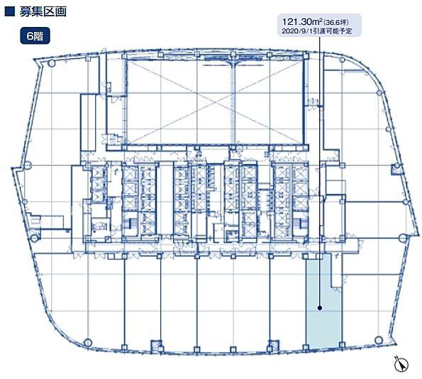 虎ノ門ヒルズ森タワー 6階の間取り画像