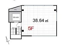 ACN高田馬場ビル(仮称)高田馬場新築ビル 5階(店舗限定)の間取り画像
