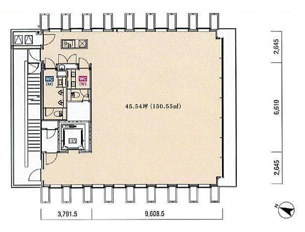 KKDビル 7階の間取り画像