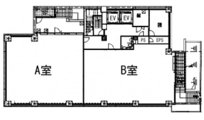 (仮称)神南一丁目計画 地下1階(店舗可)の間取り画像
