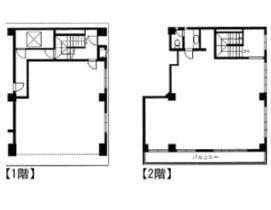 カズキビル 1階~2階(店舗可)の間取り画像