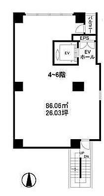 Fine Crest M'S 6階(店舗可)の間取り画像
