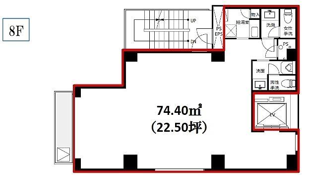 AKASAKA vetoro 8階(店舗可)の間取り画像
