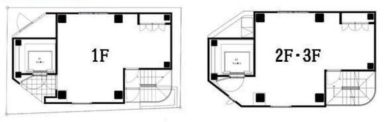 ル・グラシエルBLDG.21 1階~3階の間取り画像