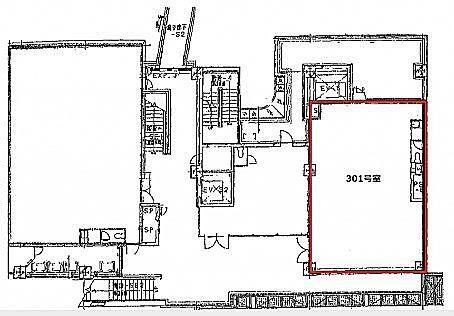 代官山アドレス・ディセ 3階301(店舗限定)の間取り画像