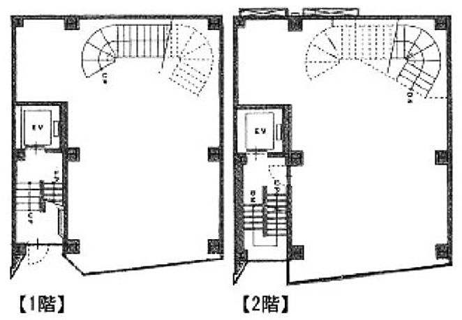 ステージ駿河台 1階~2階(店舗可)の間取り画像
