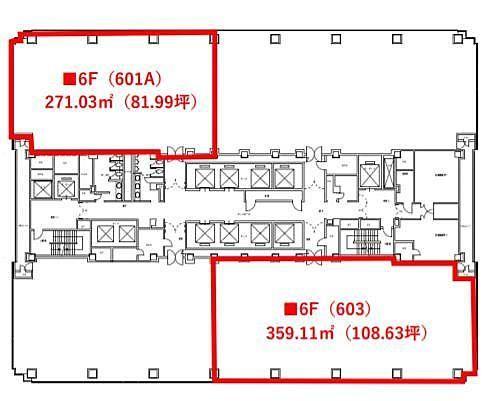 紀尾井町ビル 6階601Aの間取り画像
