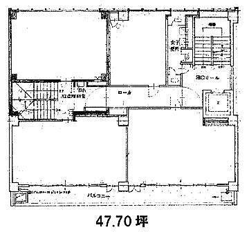 第8高畠ビル 6階(店舗可)の間取り画像