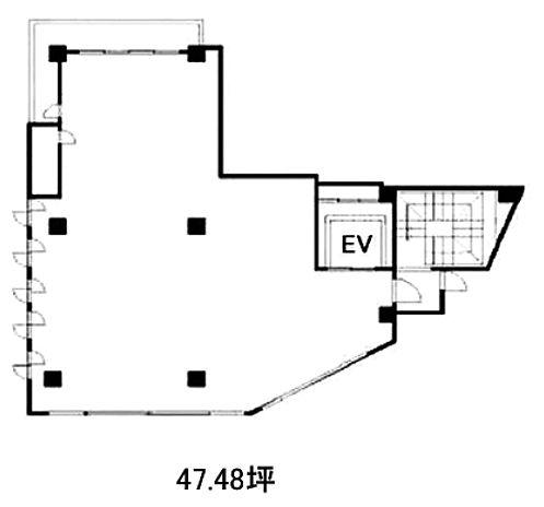 トラヤビル 6階(店舗限定)の間取り画像