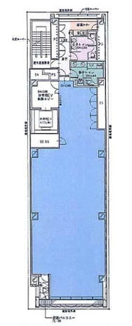芝浦クリスタル 銀座 6階 平面図