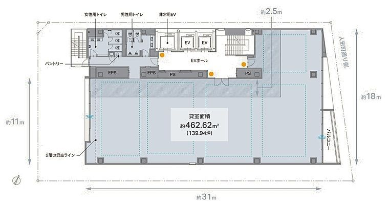 REVZO日本橋 9階の間取り画像
