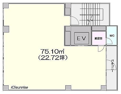 芝公園TCビルディング 7階の間取り画像
