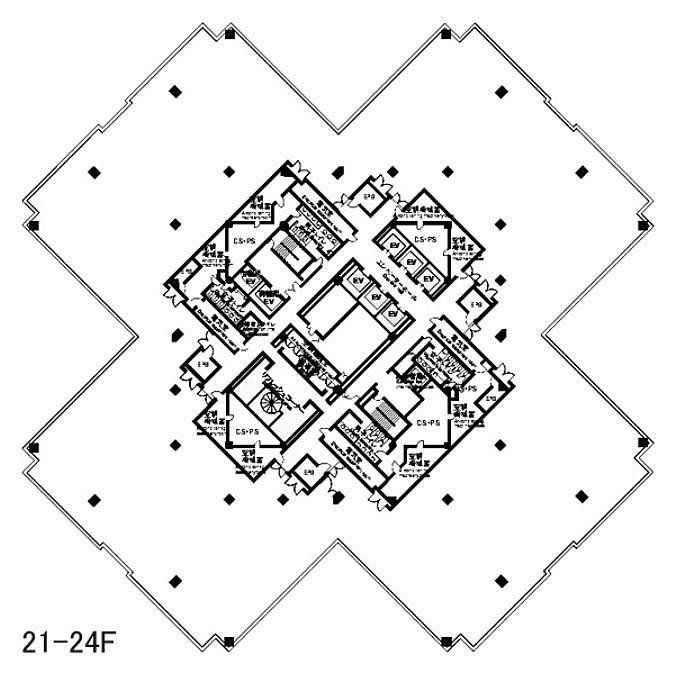 ゲートシティ大崎 W22階の間取り画像
