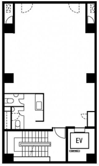 新正堂本店ビル 4階の間取り画像