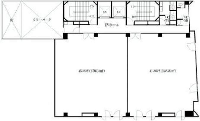 IINO BUILDING(飯野ビル) 4階の間取り画像