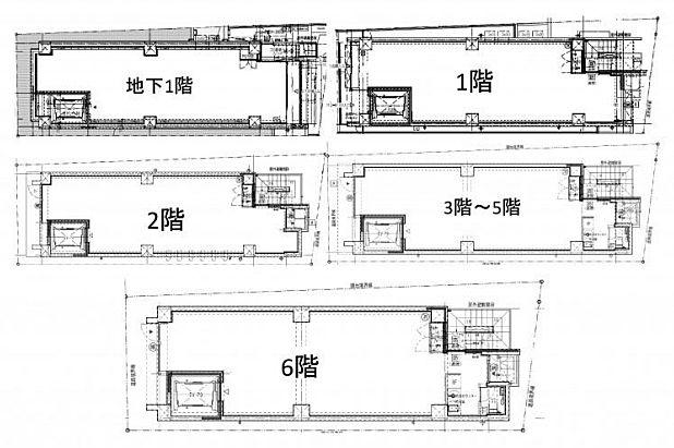 (仮称)ファザーランド渋谷Ⅱ 地下1階~6階(一棟貸・店舗可)の間取り画像