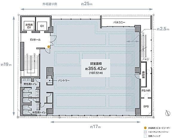 REVZO虎ノ門 6階の間取り画像