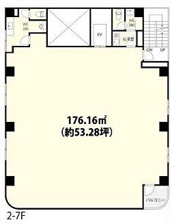 フォーラム浅草田原町 6階(店舗可)の間取り画像