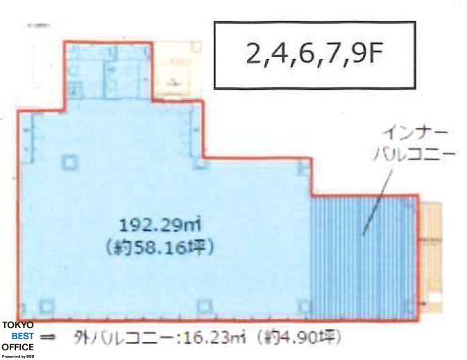 CIRCLES日本橋馬喰町 4階の間取り画像