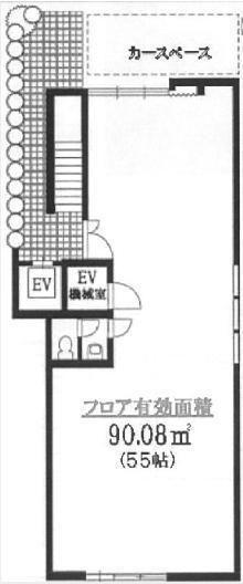 松谷ビル 1階(店舗可)の間取り画像