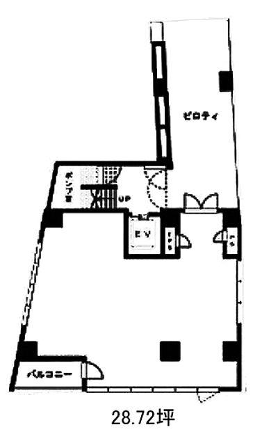 JECTONE神宮前ビル 1階 平面図