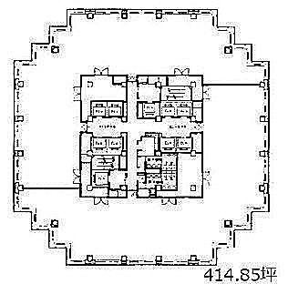 青海フロンティアビル 13階の間取り画像