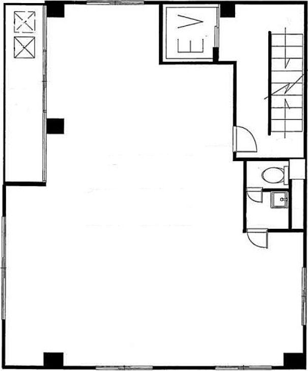 オノビル(小野ビル) 5階(店舗可)の間取り画像