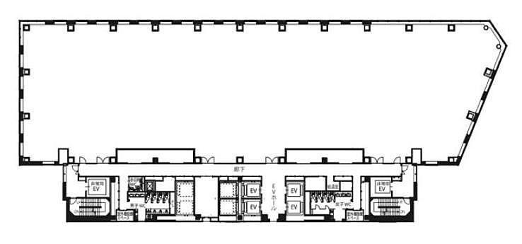 大崎ブライトコア 15階C1502の間取り画像