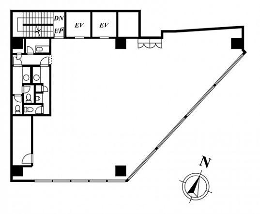 ストロング赤坂ビルディング 9階の間取り画像