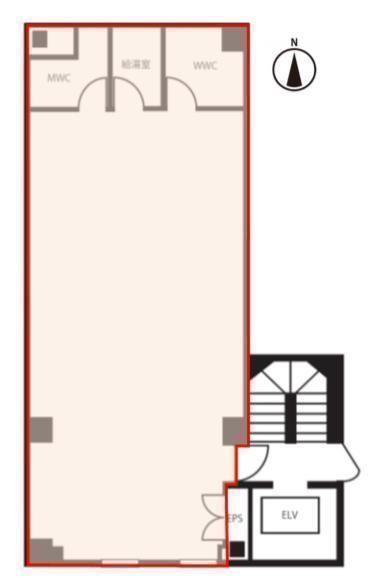 浜松町オークビル(旧:浜松町1丁目PJビル) 3階の間取り画像