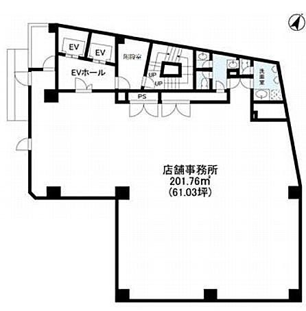 IRONSIDE NAKAMEGURO(旧称:AKビル) 6階(店舗可)の間取り画像