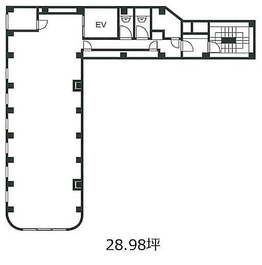 Brown Place 6階(店舗可)の間取り画像