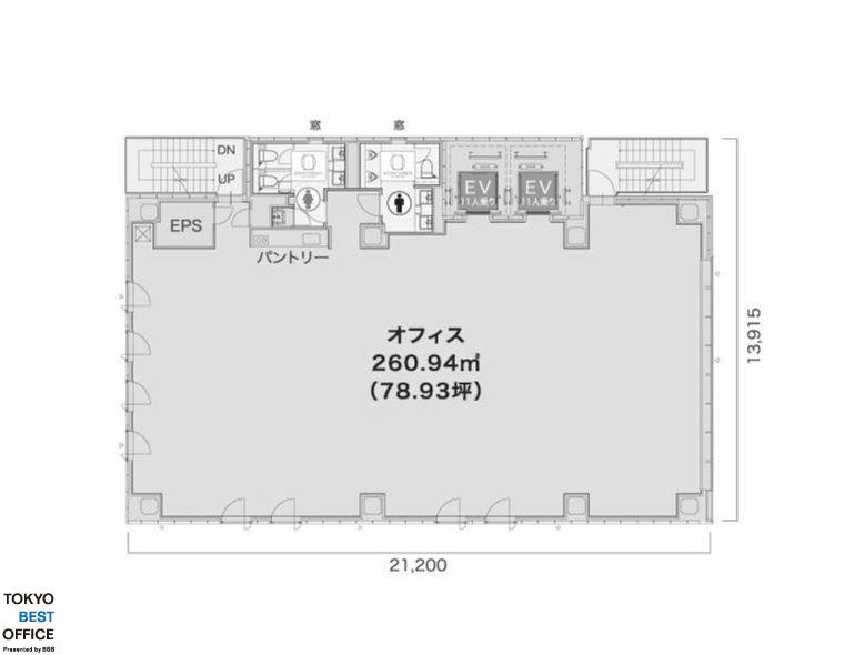 ミレーネ神田PREX(プレックス) 9階の間取り画像