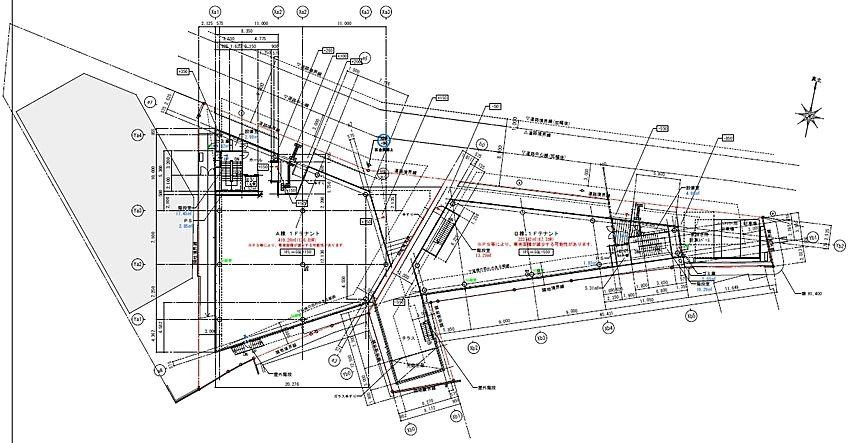 池尻大橋PJ B棟地下1階~2階 平面図