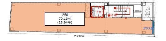 (仮称)フィル・パーク白山ヒルズ 3階(店舗限定)の間取り画像