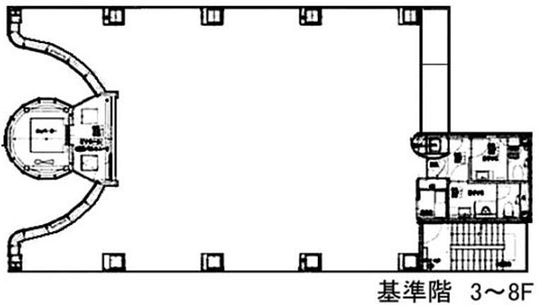 ルミナス 8階の間取り画像
