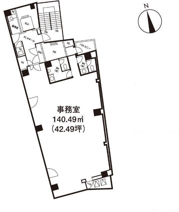 いちご神保町ビル 3階の間取り画像