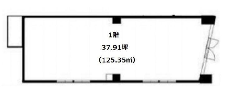 アンジェラ神宮前 1階(店舗限定)の間取り画像