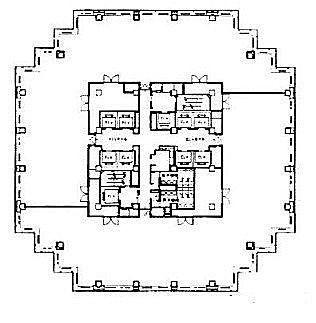 青海フロンティアビル 3階の間取り画像