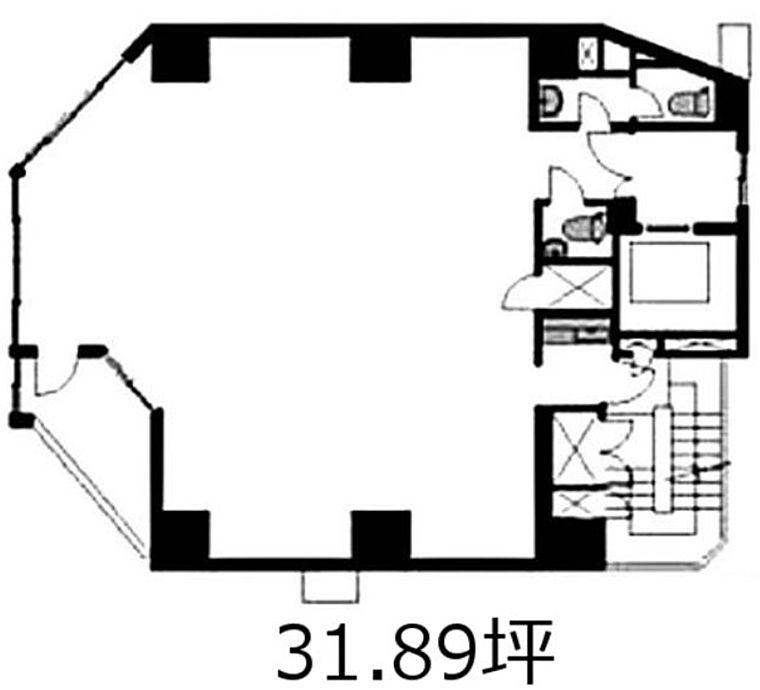 ユニゾ内神田一丁目ビル(AUSPICE内神田) 7階の間取り画像