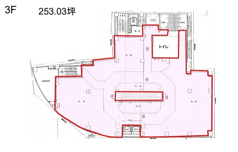 上野鈴乃屋本店ビル 3階(店舗可)の間取り画像