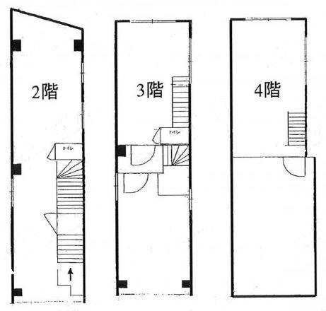 恵比寿FNビル 1階~4階(一棟貸・店舗限定)の間取り画像