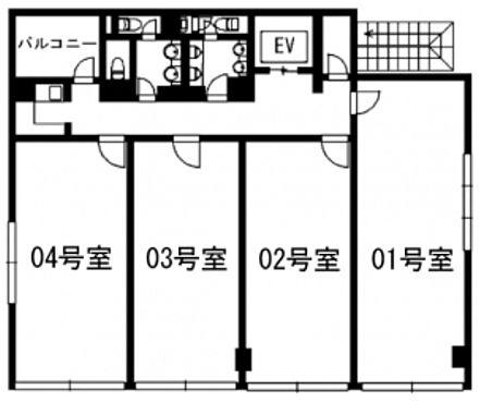 デニス赤坂ビル 6階603+604の間取り画像
