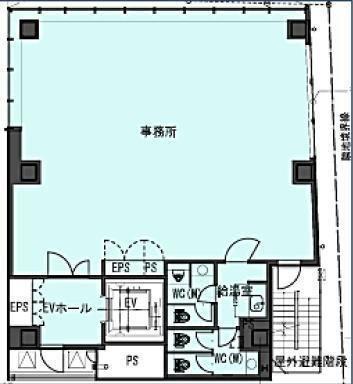 (仮称)南青山5丁目ビル新築計画(南青山5丁目プロジェクト) 9階の間取り画像