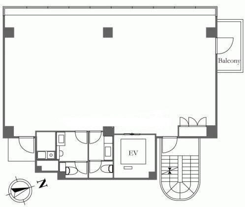 HIS麻布台ビル(旧:(仮称)麻布台ビル計画) 8階の間取り画像