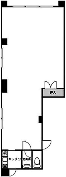 サン・クレシェンテ 1階(店舗・倉庫可)の間取り画像